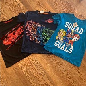 NWT Bundle of Disney & Paw Patrol T-shirts
